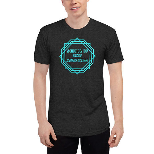 Men's T-shirt Light Blue Sacred Geometry Self-Awareness