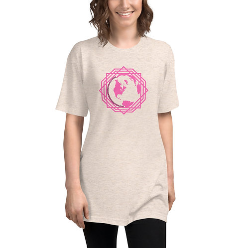 Women's T-shirt Pink Sacred Geometry Earth