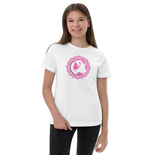 Girl's T-Shirt Pink Sacred Geometry Earth