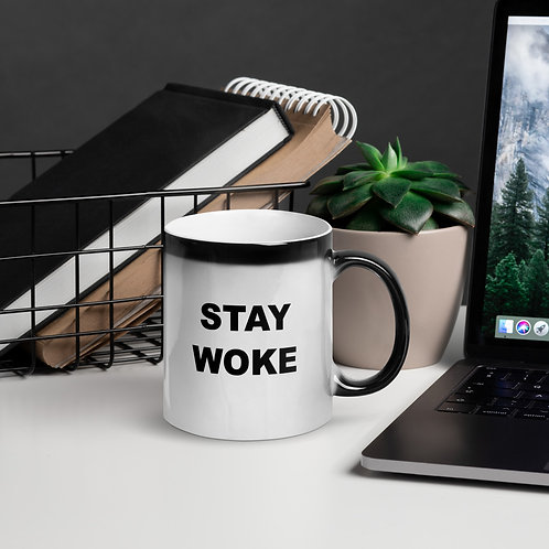 Stay Woke Glossy Magic Mug