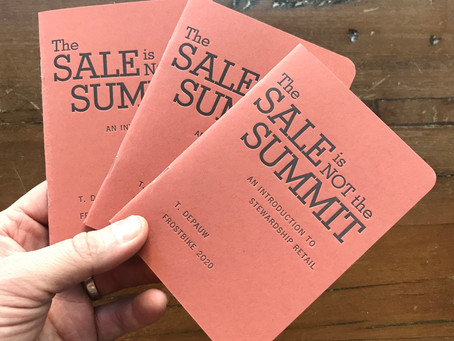 The Sale is Not the Summit - Frostbike 2020