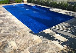 Travertine Pool Surround