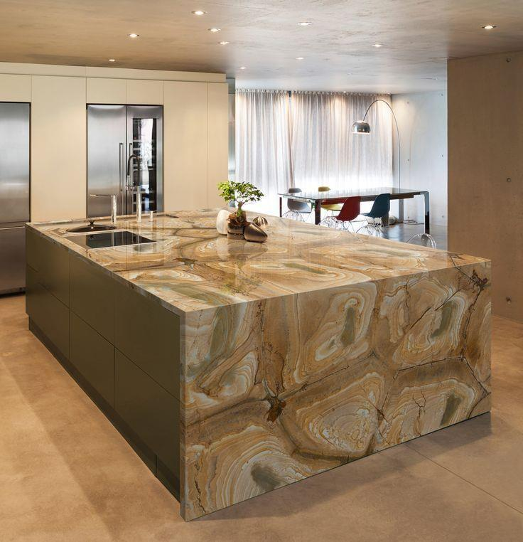 Palamino Quartzite Kitchen Island