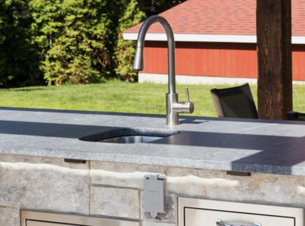 Alberene Soapstone Outdoor Kitchen