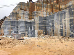 Marble quarry in China