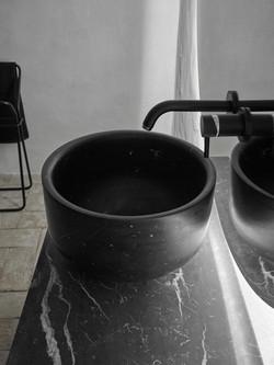 Bath- Negro Marquina -Marble sink