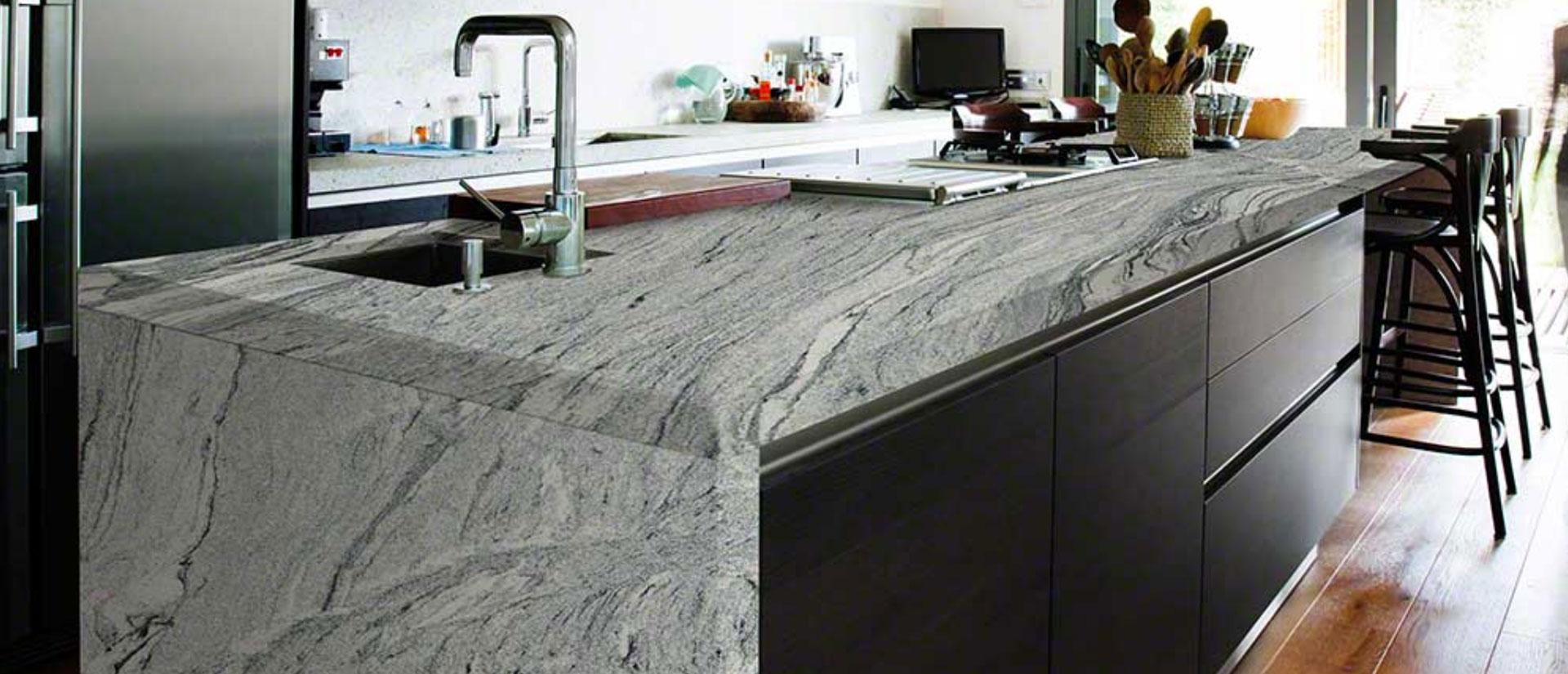 Viscount White Granite Kitchen
