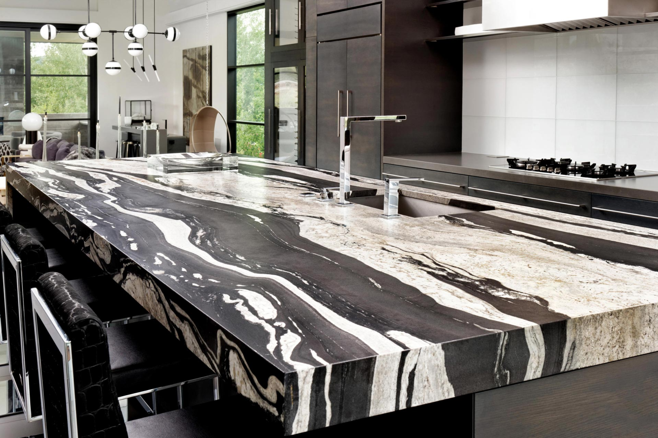 COPACABANA LEATHERED GRANITE KITCHEN
