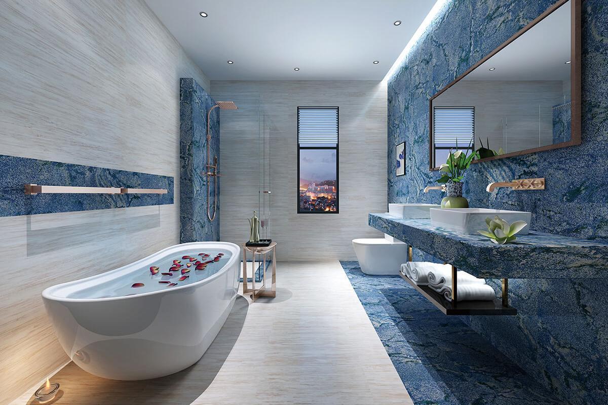 Blue Bahia Bathroom