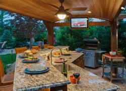 Granite countertops outdoor kitchen