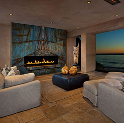 Blue Onyx Fireplace Mirrors Ocean View