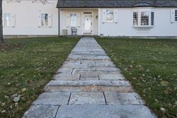 Reclaimed granite planks