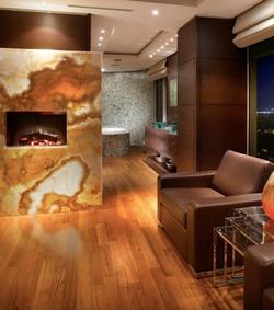 Golden Onyx Fireplace