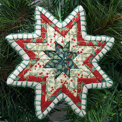 Quilt Star Ornament