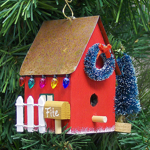 Personalized Birdhouse Ornament