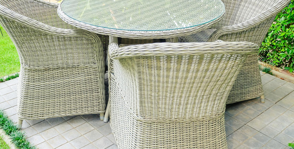 A bistro set for outside a patient's bedroom