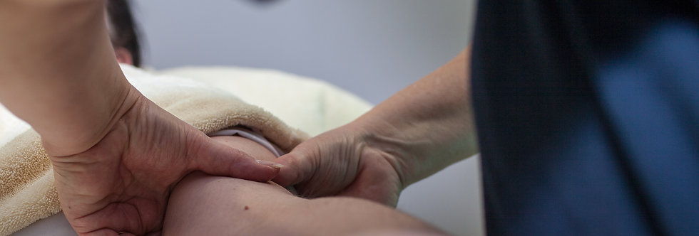 A session of treatment to a patient suffering from Lymphoedema