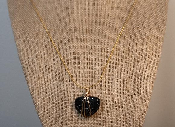 Black Tourmaline Wrap Necklace