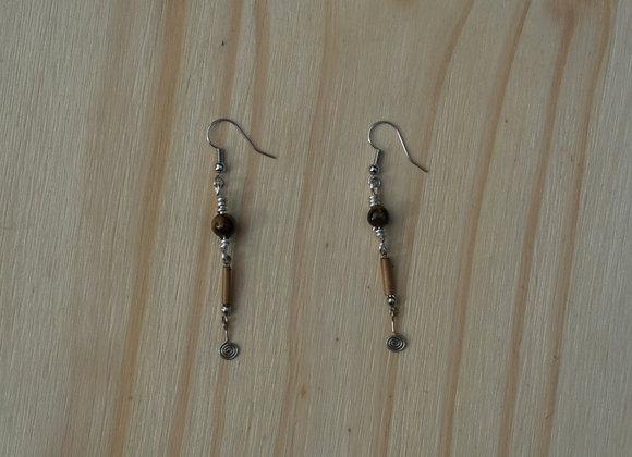 Tigers Eye Drop Earrings