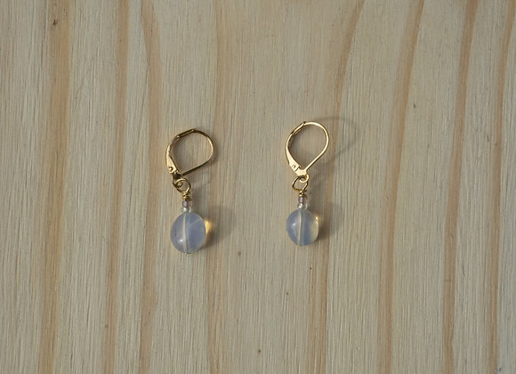 Opal Leverback Earrings