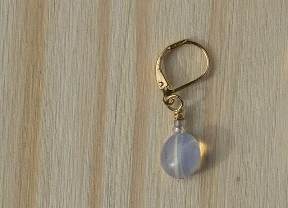 Single Opal Leverback Earring