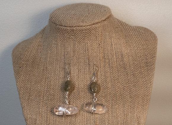 Rose Quartz and Rekindled Gem Earrings