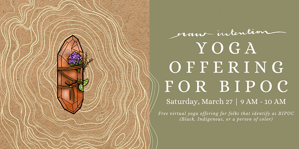 Yoga Offering for BIPOC