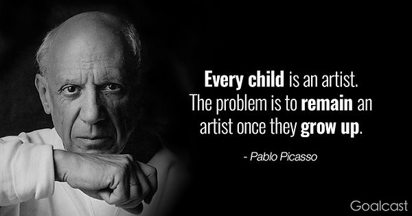 Picasso-quotes-every-child-is-an-artist.