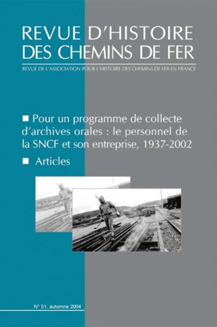 RHCF N°31 :Pour un programme de collecte d'archives orales
