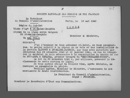 La dépose des voies ferrées pendant la Seconde Guerre mondiale (1re partie)