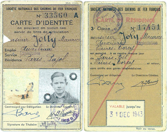 Carte SNCF Jolly Maurice REMPLACEMENT ca
