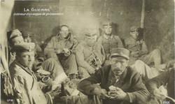 Intérieur d'un wagon de prisonniers allemands - Grande Guerre