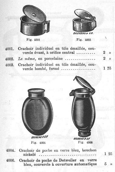 4 - Crachoirs individuels de poche. Catalogue illustré d'instruments de chirurgie, 1913. Coll.   Musée de l'Assistance publique - Hôpitaux de Paris / AP-HP.