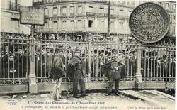 Grève des cheminots (1910) - La police gardant les issues de la gare Saint-Lazare