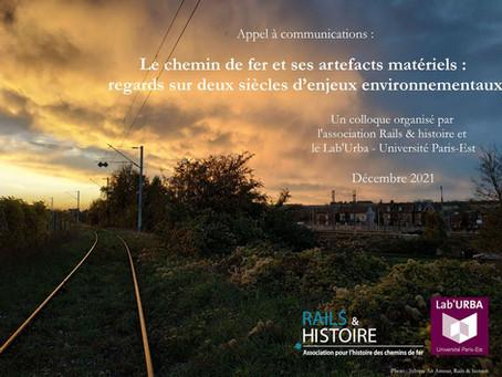 Appel à communications : Le chemin de fer et ses artefacts matériels