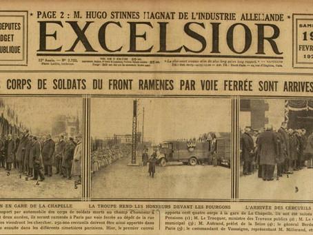 1921. La « démobilisation des morts »