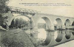 Pont d'Armentières reconstruit - Grande Guerre