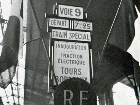 24 mai 1939. Inauguration de la traction électrique entre Paris et Bordeaux