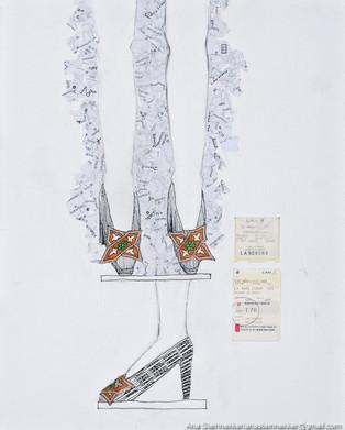 Deborah vuela, 2011 [Deborah flyes] Técnica mixta sobre tela [Mixed media on canvas]50 x 40 cm [19.6 x 15.7 in]
