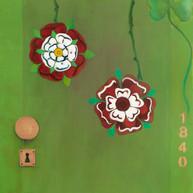 Verde, rosas Tudor y trébol, 2014. Óleo sobre lienzo. 80 x 60 cm 2014