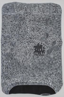 Acomodando cajones 2. Serie Cabezas locas, 2014 [Accommodating drawers 2 from Crazy Heads Series] Tinta al alcohol y acrílico sobre tela [Alcohol ink and acrylic on canvas] 150 x 100 cm [59 x 39 in]