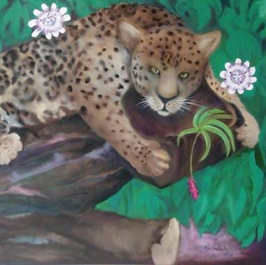 Yaguareté Michi. 2020. Óleo sobre lienzo. 60 x 80 cm