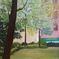 Atrapada en la 2da. Avenida 2.  2001. Óleo sobre lienzo. 80 x 80 cm