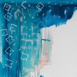Espacios diferentes. De la serie Reconstruyendo, 2015 [Diferent spaces from Rebuilding Series] Técnica mixta sobre papel [Mixed media on paper]  33 x 33 cm [13 x 13 in]