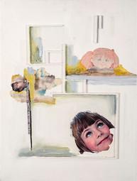 Infancia, 2010 [Childhood] Técnica mixta sobre cartón [Mixed media on cardboard] 40 x 30 cm 16 x 12 in]