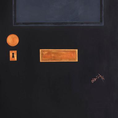 La puerta victoriana black. 2014. Óleo sobre lienzo. 180 x 90 cm