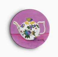 Victoria's teapot, 2014. Óleo sobre lienzo. 30 cm diámetro
