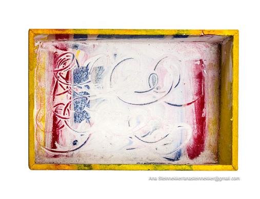 Caja 2. Serie Cajas, 2010 [Box 2 from Box Series] Técnica mixta sobre madera [Mixed media on wood] 8 x 12 cm [3.1 x 4.7 in]