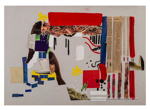 Araceli, 2010 Collage sobre cartón [Collage on cardboard] 50 x 70 cm [ 20 x 28 in]