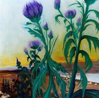Cardo. 2002. Óleo sobre lienzo. 80 x 60 cm